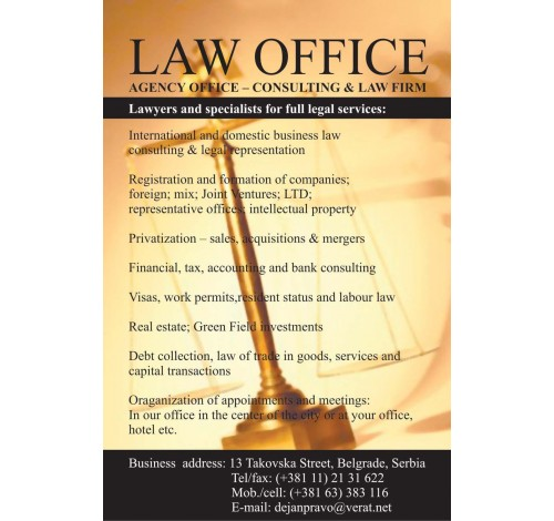 Law Office  Business law Serbia
